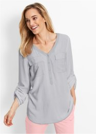 Blusa in viscosa a manica lunga, bpc bonprix collection, Grigio