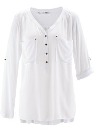 Camicia a manica lunga in tessuto crinkle, bpc bonprix collection