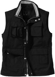 Gilet trapuntato regular fit, bpc selection, Nero