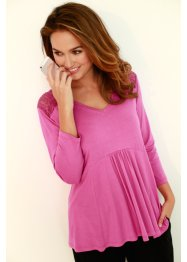 Tunica in maglina, bpc bonprix collection, Fucsia chiaro