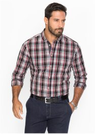 Camicia a quadri regular fit, bpc selection, Nero / bianco a quadri