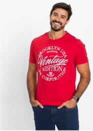 T-shirt slim fit, John Baner JEANSWEAR, Rosso