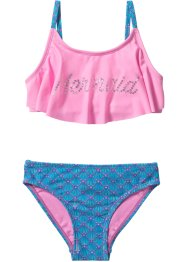 Bikini per bambina, bpc bonprix collection, Turchese / fucsia