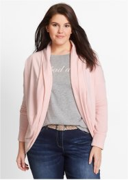 Cardigan in felpa, bpc bonprix collection, Rosa perlato