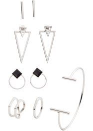 Set di gioielli (set 9 pezzi), bpc bonprix collection, Color argento