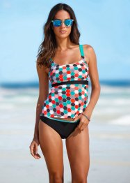 Tankini minimizer, bpc bonprix collection, Nero fantasia