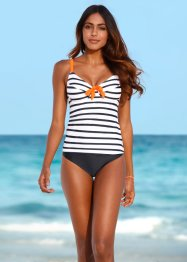 Tankini minimizer con ferretto, bpc bonprix collection, Blu / bianco