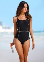 Costume da bagno minimizer con ferretto, bpc bonprix collection, Nero