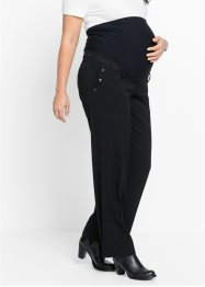 Pantalone prémaman a gamba larga, bpc bonprix collection, Nero