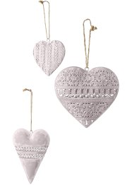 Cuori decorativi da appendere (set 3 pezzi), bpc living bonprix collection