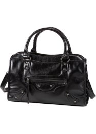 Borsa con borchie, bpc bonprix collection, Nero