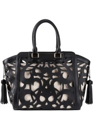 Borsa con trafori al laser, bpc bonprix collection, Nero