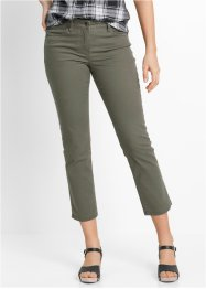 Pantalone elasticizzato 7/8, bpc bonprix collection, Verde oliva scuro