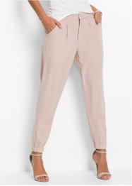 Pantalone loose fit, BODYFLIRT, Color nudo