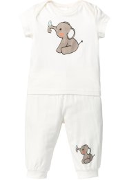 T-shirt + pantalone in maglina (set 2 pezzi) in cotone biologico, bpc bonprix collection