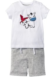 T-shirt + pantaloncino (set 2 pezzi) in cotone biologico, bpc bonprix collection