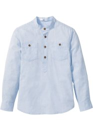 Camicia con manica risvoltabile, bpc bonprix collection, Azzurro