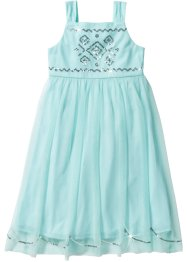 Abito in tulle con paillettes, bpc bonprix collection, Menta pastello