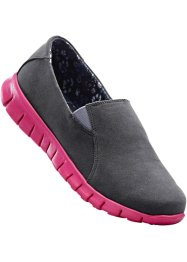 Mocassino sportivo, bpc bonprix collection, Grigio / fucsia scuro