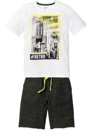 T-shirt e pantaloni corti (set 2 pezzi), bpc bonprix collection