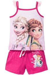 "Top + shorts""FROZEN""  (set 2 pezzi), Disney, Fucsia con stampa ""FROZEN"""
