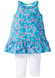 Abito con volant + leggings 3/4 (set 2 pezzi), bpc bonprix collection