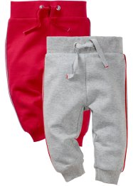 Pantalone di felpa in cotone biologico (pacco da 2), bpc bonprix collection