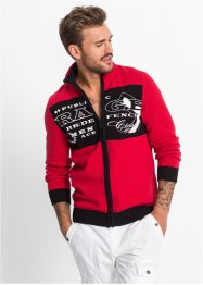 Cardigan slim fit, RAINBOW, Rosso