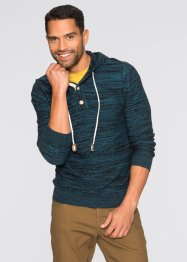 Pullover slim fit, RAINBOW, Petrolio scuro melange