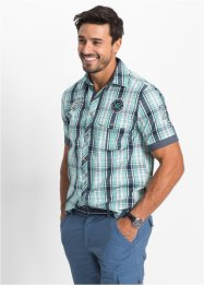 Camicia a manica corta regular fit, bpc bonprix collection, Menta a quadri