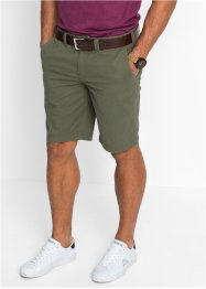 Bermuda chino regular fit, bpc bonprix collection, Verde oliva