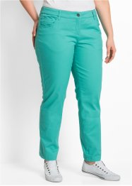 "Pantalone in cotone elasticizzato ""Straight"", bpc bonprix collection, Verde mare"