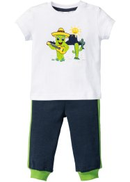 T-shirt + pantalone in felpa (set 2 pezzi) in cotone biologico, bpc bonprix collection