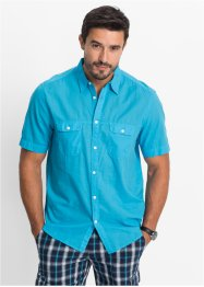 Camicia a manica corta regular fit, bpc bonprix collection, Turchese