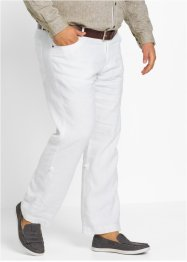 Pantalone regolabile in lino regular fit straight, bpc selection
