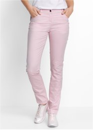 "Pantalone in cotone elasticizzato ""Straight"", bpc bonprix collection, Rosa perlato"