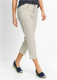 "Pantalone chino in popeline 7/8 ""Largo"", bpc bonprix collection, Beige ghiaia"