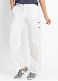 "Pantalone in popeline ""Gamba larga"", bpc bonprix collection, Bianco"