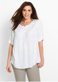 Blusa a mezza manica, bpc bonprix collection, Bianco fantasia