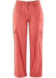 Pantalone cargo 7/8 in popeline, bpc bonprix collection, Corallo