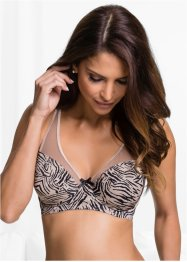 Reggiseno minimizer, bpc selection, Marroncino / nero fantasia