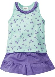 Top + gonna (set 2 pezzi), bpc bonprix collection, Menta chiaro / violetto
