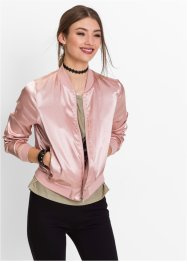 Bomber in satin, RAINBOW, Rosa antico