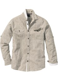 Camicia in misto lino regular fit, bpc selection