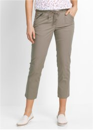Pantaloni 7/8 con cerniere, bpc bonprix collection, Marroncino