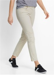 Pantalone elasticizzato stretto 7/8 con frange, bpc bonprix collection