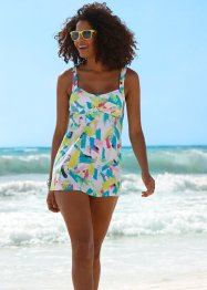 Top lungo per tankini, bpc bonprix collection, Bianco fantasia