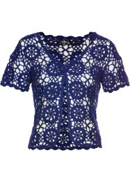 Bolero all'uncinetto, bpc bonprix collection, Blu notte