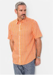 Camicia in lino a manica corta regular fit, bpc selection