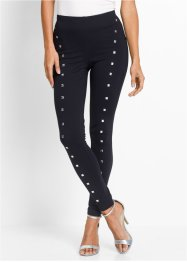 Leggings con borchie, bpc selection, Nero / argento